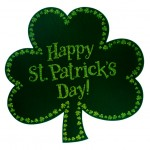 happy st patricks day shamrock
