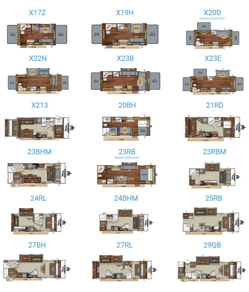2019 Jayco Jay Feather floorplans