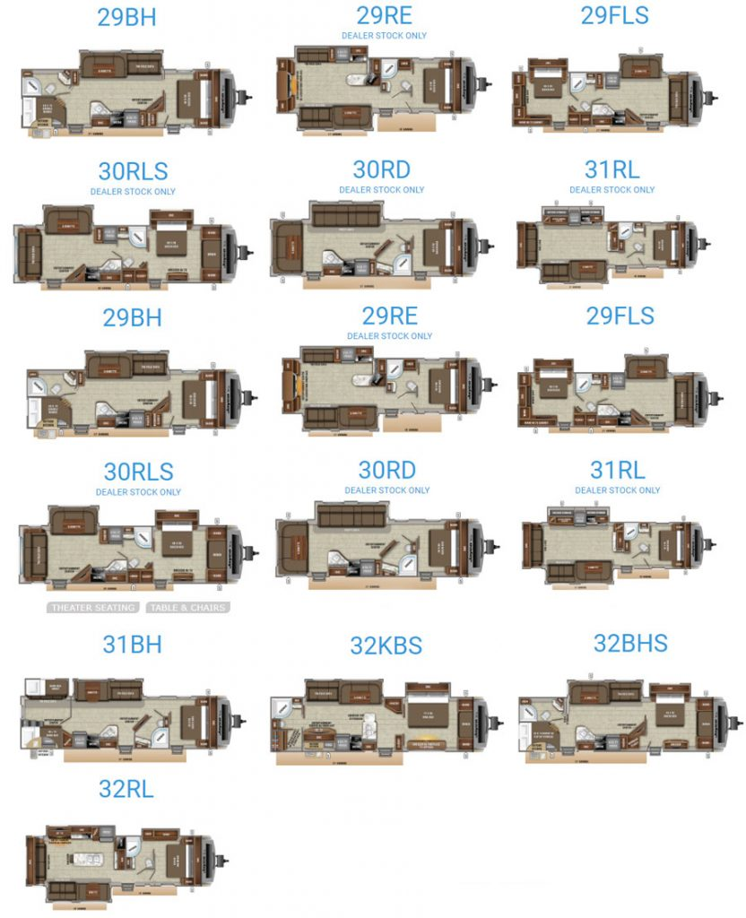2019 Jayco White Hawk Floorplans