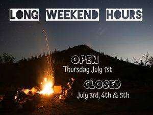 Canada Day Long Weekend Hours