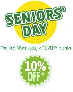 Join us today – It's SENIOR'S DAY!