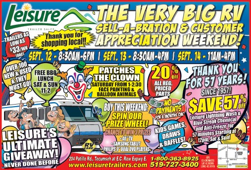 The Very Big RV Sell-A-Bration & Customer Appreciation Weekend
