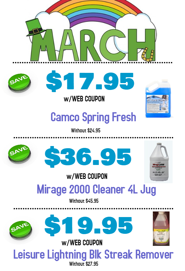 March Web Coupons Now Online Get Your Camper Ready For
