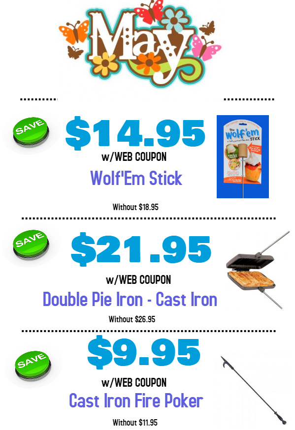 May Web Coupons It S Campfire Cookin Time Leisure