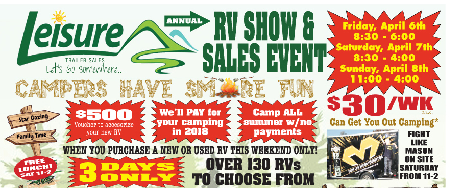 Leisure S Rv Show Amp Sales Event This Weekend Leisure