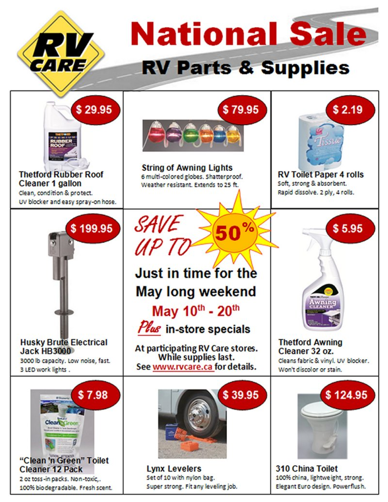 Rv Care National Sale May 10 20 Leisure Trailer Sales