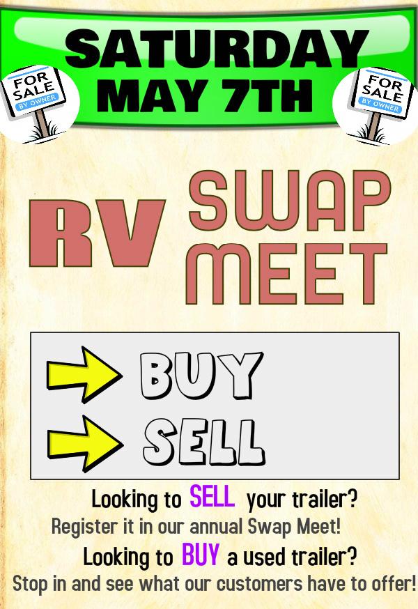 Rv Swap Meet It S Back Baby Leisure Trailer Sales