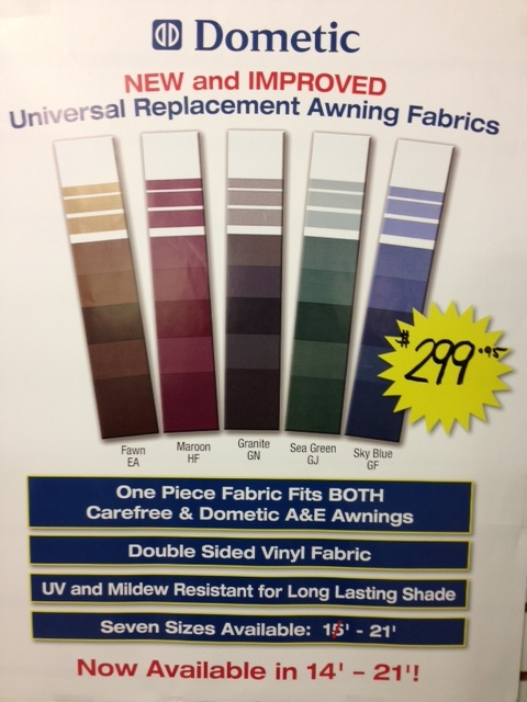 Dometic Universal Replacement Awning Fabrics Fabric
