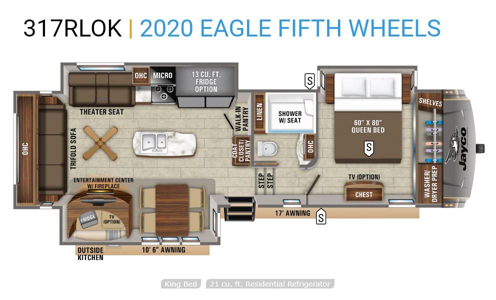 jayco eagle floorplan 317rlok
